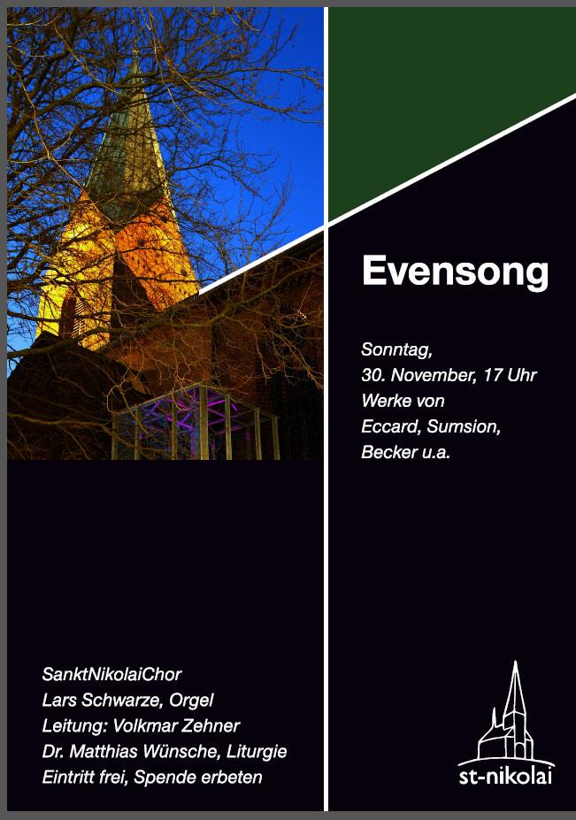 Plakat Evensong